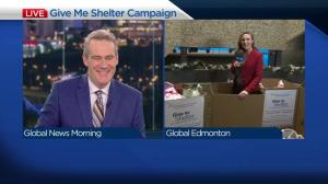 Come on down to Global Edmonton's Give Me Shelter all-day donation drive